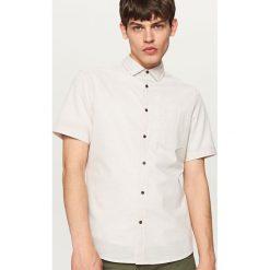 Odzież męska: Koszula w delikatny prążek regular fit – Beżowy