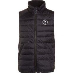 Abercrombie & Fitch Kamizelka black/grey. Czarne kurtki dziewczęce Abercrombie & Fitch, z materiału. W wyprzedaży za 191,20 zł.