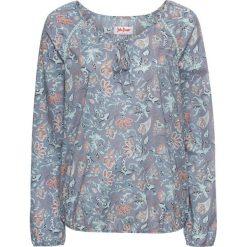 Bluzki, topy, tuniki: Tunika z długim rękawem bonprix szaro-niebieski z nadrukiem