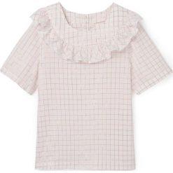 Bluzki dziewczęce bawełniane: Błyszcząca bluzka w kratkę z falbankami, 3-12 lat