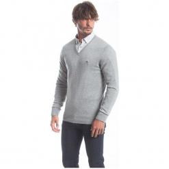 Polo Club C.H..A Sweter Męski L Szary. Szare swetry klasyczne męskie marki Polo Club C.H..A, l, dekolt w kształcie v. W wyprzedaży za 259,00 zł.