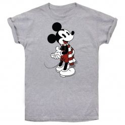 Christmas T-Shirt T-Shirt Damski Mickey Scarf L Szary. Szare t-shirty damskie Christmas T-Shirt, l. Za 65,00 zł.