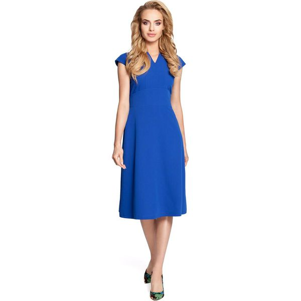 9783f780ec PAGE Sukienka z szerokim paskiem - chabrowa - Niebieskie sukienki damskie  Moe