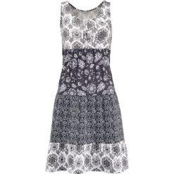 Sukienki hiszpanki: Sukienka bonprix szaro-czarny wzorzysty