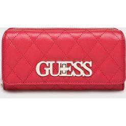 Guess Jeans - Portfel Sweet Candy. Różowe portfele damskie marki Guess Jeans, z aplikacjami, z jeansu. Za 279,90 zł.