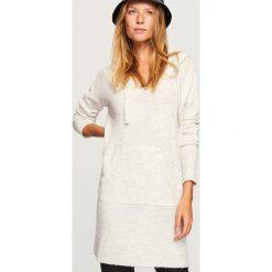 Sweter z kapturem - Kremowy. Szare swetry klasyczne damskie marki Reserved, m, z kapturem. Za 99,99 zł.