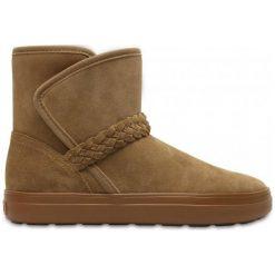 Crocs Buty Zimowe Lodgepoint Suede 37.5. Brązowe buty sportowe damskie marki Crocs, z gumy, narciarskie. W wyprzedaży za 279,00 zł.