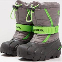 Buty zimowe chłopięce: Sorel FLURRY Śniegowce quarry/cyber green