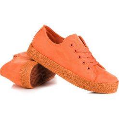 Espadryle damskie: Pomarańczowe trampki espadryle CAMRYN