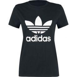 Adidas Trefoil Tee Koszulka damska czarny. Czarne bluzki na imprezę Adidas, xxl, z nadrukiem, z okrągłym kołnierzem. Za 99,90 zł.