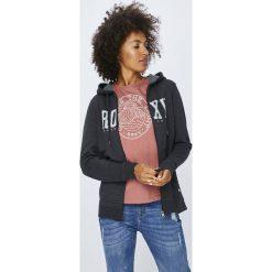 Roxy - Bluza. Szare bluzy z kieszeniami damskie marki Roxy, m, z nadrukiem, z bawełny, z kapturem. Za 249,90 zł.