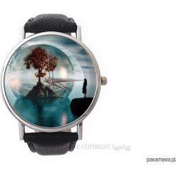 Zegarek z dużą tarczką Drzewo życia - 0962. Czarne zegarki damskie marki KIPSTA, m, z elastanu, z długim rękawem, na fitness i siłownię. Za 120,00 zł.
