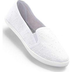 Baleriny bonprix biały. Białe baleriny damskie bonprix. Za 49,99 zł.
