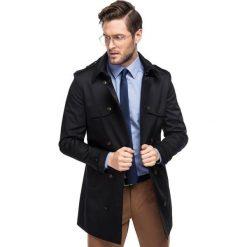 Płaszcz ALVARO PSCS000060. Brązowe płaszcze na zamek męskie Giacomo Conti, m, z bawełny, eleganckie. Za 599,00 zł.