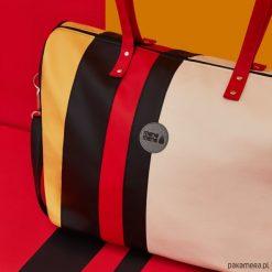 Podróżna torba weekendowa- podręczny bagaż. Czarne torby podróżne Pakamera, ze skóry ekologicznej. Za 280,00 zł.