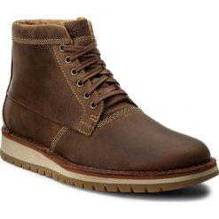 Botki męskie: Kozaki CLARKS - Varby Top 261278607 Tan Leather