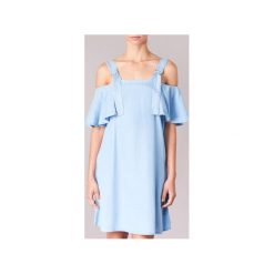 Sukienki krótkie Guess  RACUNO. Niebieskie sukienki mini marki Guess, l, z aplikacjami, z krótkim rękawem. Za 319,20 zł.
