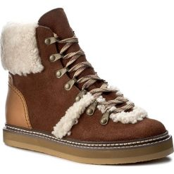 Botki SEE BY CHLOÉ - SB27100 Azteco/Tamp. 538. Brązowe buty zimowe damskie See by Chloé, z materiału. W wyprzedaży za 949,00 zł.