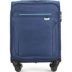 Walizka kabinowa V25-3S-261-90. Niebieskie walizki marki Wittchen, małe. Za 149,00 zł.