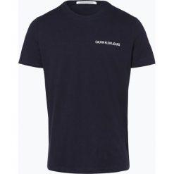 Calvin Klein Jeans - T-shirt męski, niebieski. Niebieskie t-shirty męskie marki Calvin Klein Jeans, m, z napisami, z jeansu. Za 99,95 zł.