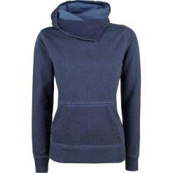 Bluzy damskie: RED by EMP Hooded Shawl Collar Basic Hoodie Bluza z kapturem damska granatowy