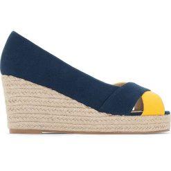 Buty ślubne damskie: Espadryle na sznurkowym koturnie - odpowiednie na szerokie stopy 38-45