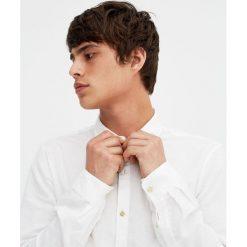 Lniana koszula z długim rękawem. Czerwone koszule męskie marki Pull&Bear, m. Za 99,90 zł.