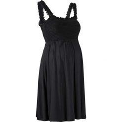 Sukienka ciążowa shirtowa bonprix czarny. Niebieskie sukienki ciążowe marki bonprix, z nadrukiem. Za 79,99 zł.