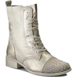 Botki R.POLAŃSKI - 0861 Złoto Przecierany. Żółte buty zimowe damskie marki Kazar, ze skóry, na wysokim obcasie, na obcasie. W wyprzedaży za 249,00 zł.