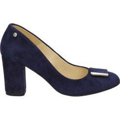 Buty ślubne damskie: Czółenka - 026-K9 CAM BL