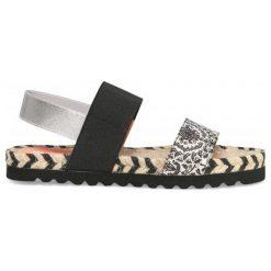 Desigual Sandały Damskie Formentera Save Th 37 Czarny. Brązowe sandały damskie marki Desigual, w paski, z materiału. W wyprzedaży za 189,00 zł.