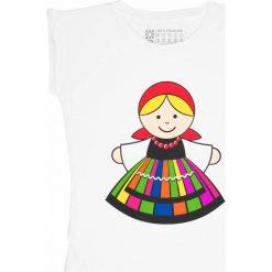 T-shirty damskie: Gadżet Folkstar Koszulka damska M łowiczanka biała FOLKSTAR – 264845