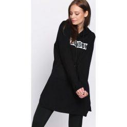 Bluzy damskie: Czarna Bluza Communicative