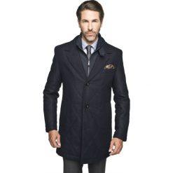 Płaszcz mandel granatowy. Niebieskie płaszcze na zamek męskie Recman, na zimę, m, z aplikacjami, z wełny, biznesowe. Za 599,99 zł.
