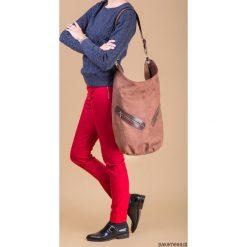 KOFI - duża torba worek - brązowa. Brązowe torebki klasyczne damskie marki ARTENGO, z materiału. Za 156,00 zł.