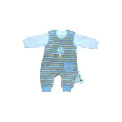 Ebi & Ebi  Fairtrade Śpioszki komplet, jasnoniebieski. Niebieskie śpiochy niemowlęce marki Ebi & Ebi, z bawełny, z długim rękawem. Za 65,00 zł.