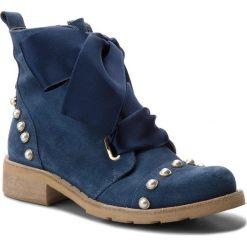 Botki EVA MINGE - Tomelloso 3H 18JS1372517ES 213. Niebieskie buty zimowe damskie Eva Minge, ze skóry, na obcasie. Za 649,00 zł.