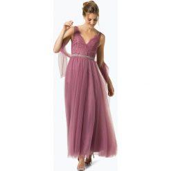 Sukienki hiszpanki: Unique - Damska sukienka wieczorowa z etolą, różowy