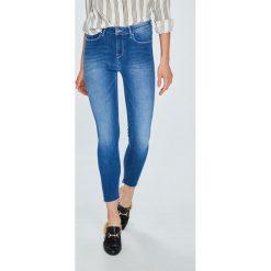 Tommy Hilfiger - Jeansy Como. Niebieskie jeansy damskie TOMMY HILFIGER, z bawełny. W wyprzedaży za 319,90 zł.