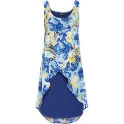 Sukienki: Sukienka z kwiatowym nadrukiem bonprix kobaltowy z nadrukiem