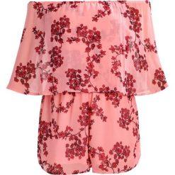 Kombinezony damskie: Missguided Tall BARDOT FRILL BLOSSOM Kombinezon pink