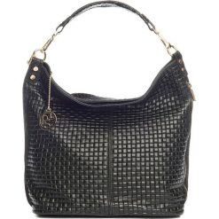 Torebki klasyczne damskie: Skórzana torebka w kolorze czarnym – 40 x 40 x 14 cm