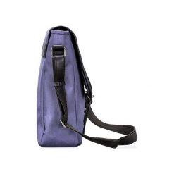 DIEGO Torba męska listonoszka na ramię Niebieska. Niebieskie torby na ramię męskie Solier, w paski, z tkaniny. Za 109,90 zł.