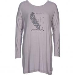 """Koszula nocna """"Cozy World"""" w kolorze jasnoszarym. Białe koszule nocne i halki marki LASCANA, w koronkowe wzory, z koronki. W wyprzedaży za 68,95 zł."""