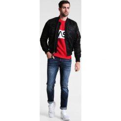 Mustang OREGON TAPERED Jeansy Slim fit blue. Czarne jeansy męskie relaxed fit marki Mustang, l, z bawełny, z kapturem. W wyprzedaży za 224,25 zł.