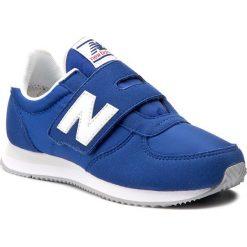 Sneakersy NEW BALANCE - KV220BLY Niebieski. Niebieskie trampki chłopięce marki New Balance, z materiału, na rzepy. W wyprzedaży za 199,00 zł.