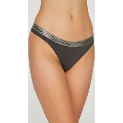 Calvin Klein Underwear - Stringi (3-Pack). Brązowe stringi Calvin Klein Underwear, l, z bawełny. Za 169,90 zł.