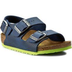 Sandały BIRKENSTOCK - Milano Kinder 0035203 Desert Soil Blue. Niebieskie sandały chłopięce Birkenstock, z materiału. W wyprzedaży za 169,00 zł.
