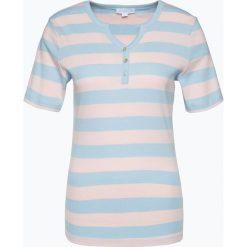 Brookshire - T-shirt damski, niebieski. Zielone t-shirty damskie marki bonprix, z kołnierzem typu henley. Za 69,95 zł.