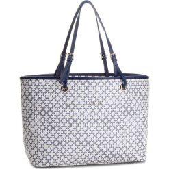 Torebka KAZAR - Adria 31911-ST-48 Biały Granatowy. Białe torebki klasyczne damskie Kazar, ze skóry ekologicznej, duże. W wyprzedaży za 499,00 zł.